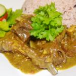 jamaican curry goat, rice n peas