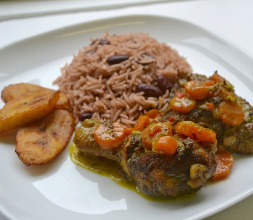 Jerk Chicken Stew with Rice n Peas